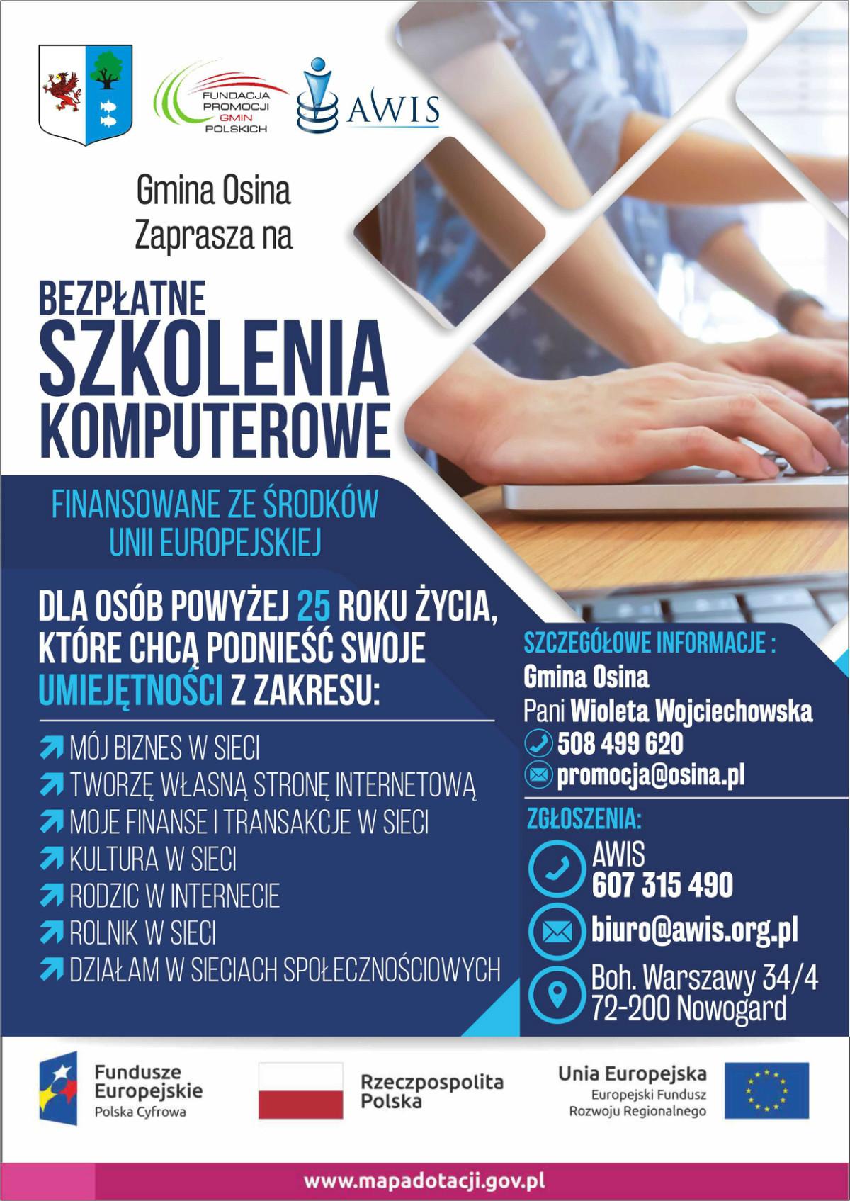 plakat kursy komputerowe