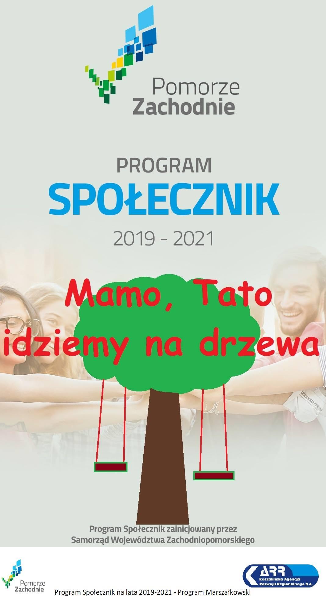 plakat projektu Mamo Tato idziemy na drzewa